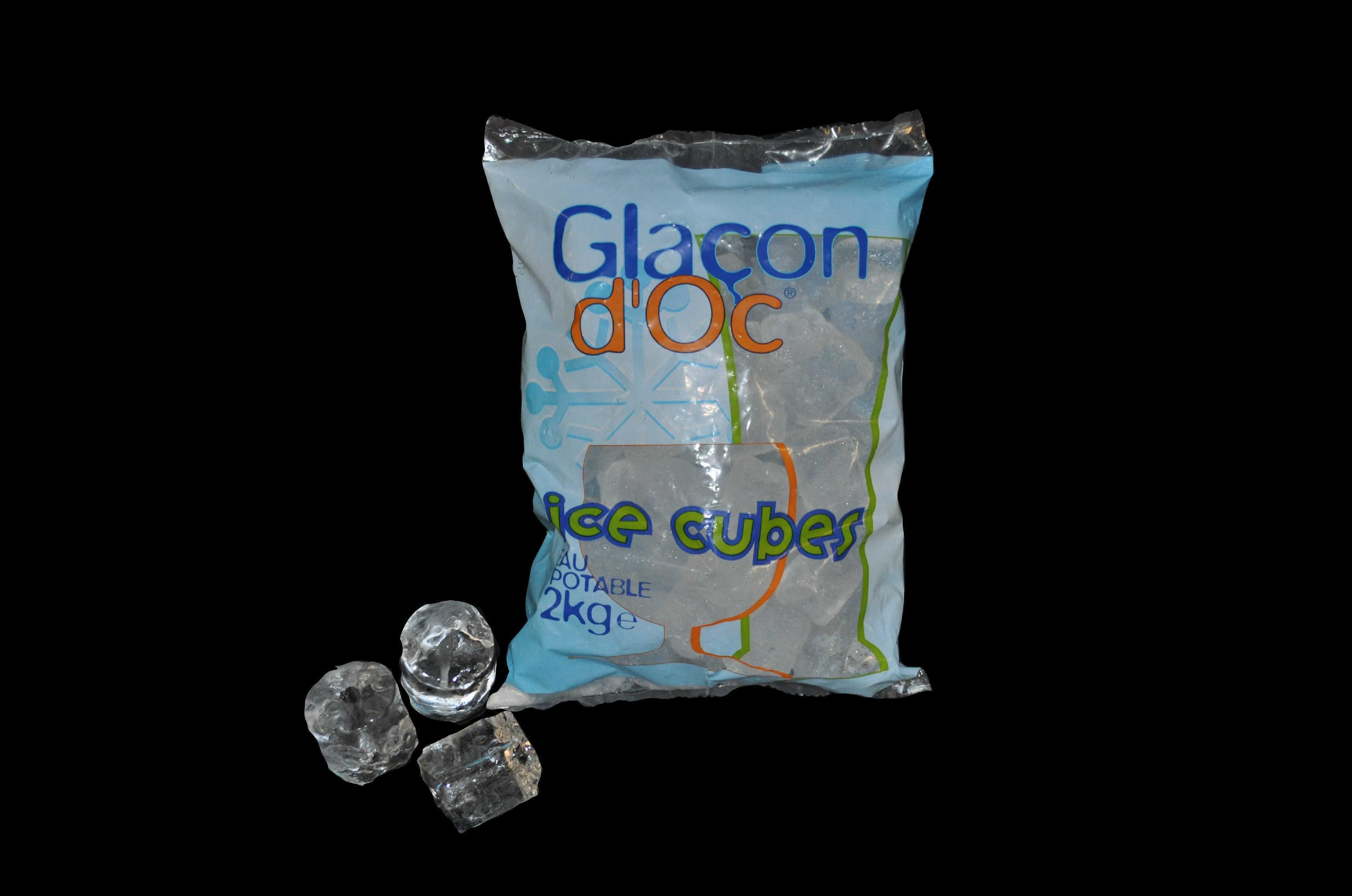 Gla ons d 39 oc glaci re narbonnaise - Sac glacons 20 kg ...